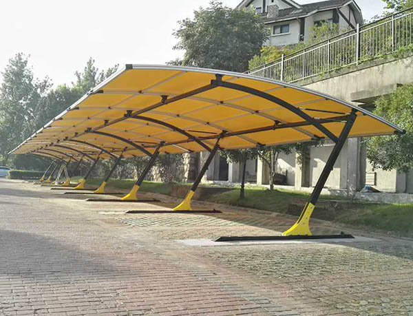 Yellow Multichannel carportfor modern house area
