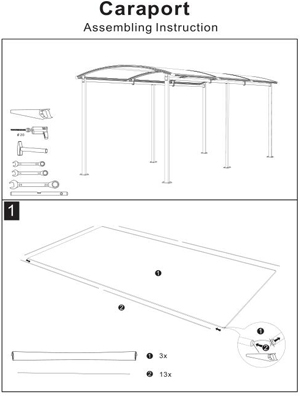 Assembling Instruction of RV carport