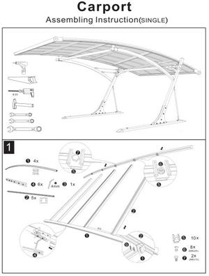 Assembling Instruction of Polycarbonate Carport
