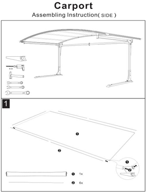 Assembling Instruction of Side carport