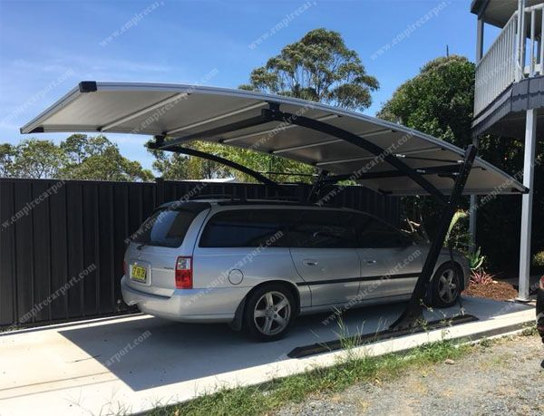 wind resistance car parking tent at gray color