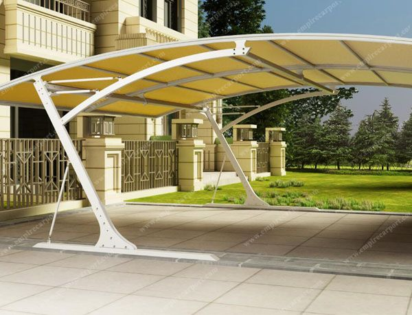 Double car parking shade at Blue color
