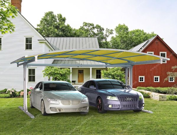 Side carport for 2 cars