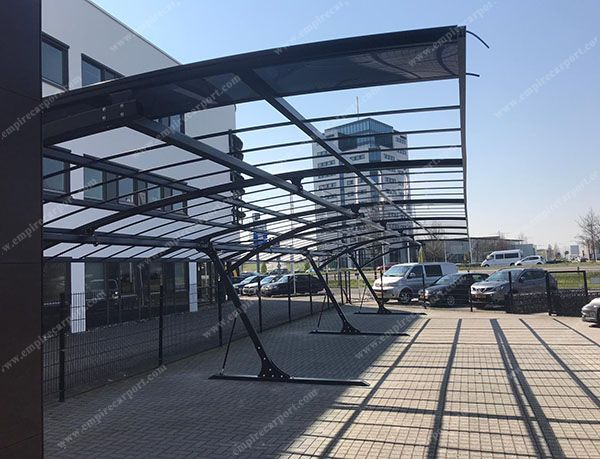 Anti-snow solid PC roof carport for Parking Lot