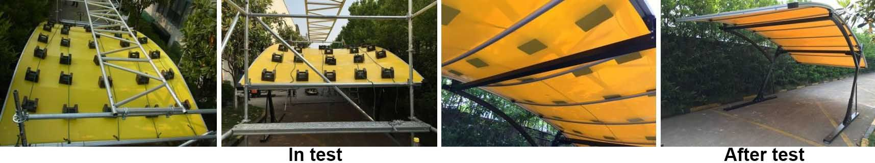 Yellow single carport for 1 car