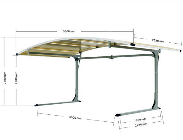 Side carport for 1car