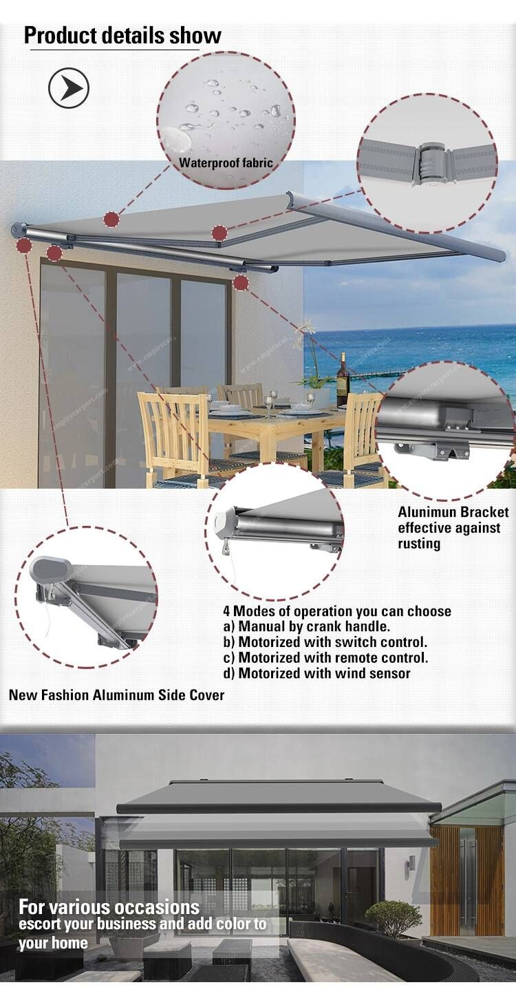 Full-Cassette Retractable Awning